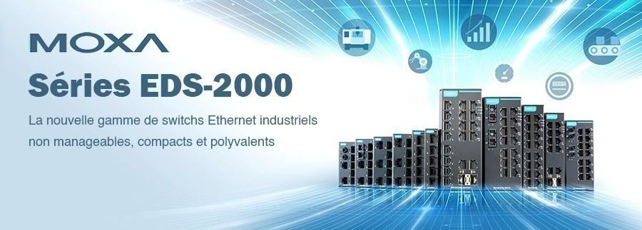 Moxa lance une nouvelle gamme de switchs Ethernet industriels non manageables : ils sont compacts et très polyvalents !