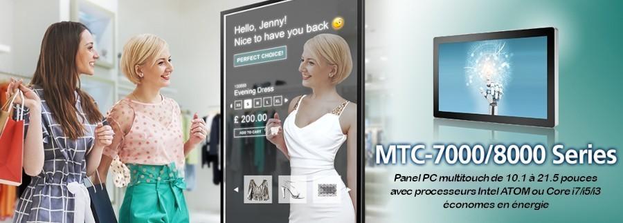 Les Panel PC multitouch de Vecow, les séries MTC-7000 et MTC-8000, sont économes en énergie