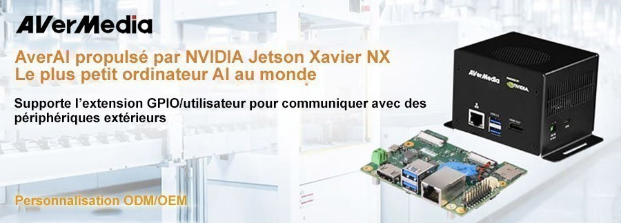 Carte support / PC Box AVerMedia optimisés par NVIDIA Jetson Xavier NX