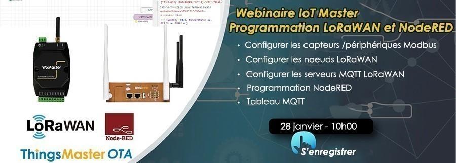 WoMaster vous invite au webinaire IoT Master : programmation LoRaWAN et NodeRED