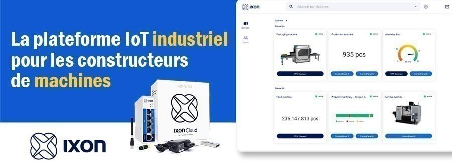 Avez-vous déjà découvert la nouvelle interface IXON Cloud ? La plateforme a été scindée en quatre applications distinctes afin d'offrir aux utilisateurs la liberté de personnaliser leur propre plateforme IoT