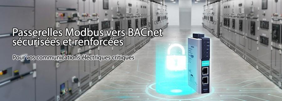 Passerelles Moxa Modbus-BACnet durcies sécurisées pour vos communications électriques critiques