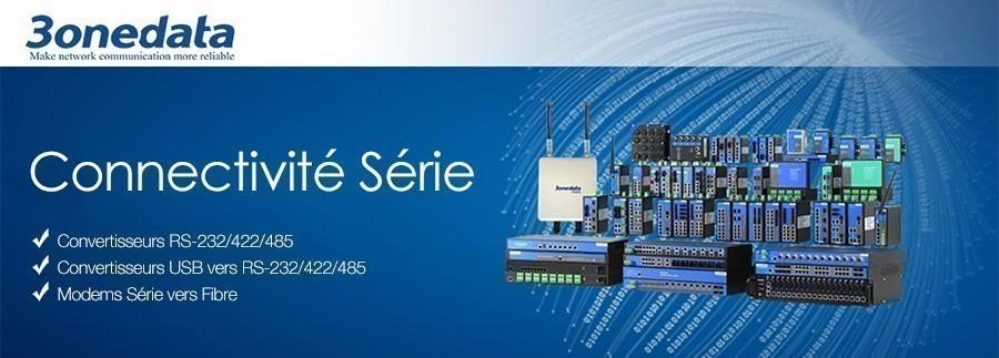 Découvrez les produits de Connectivité Série de 3onedata, nouveau partenaire de ADM21