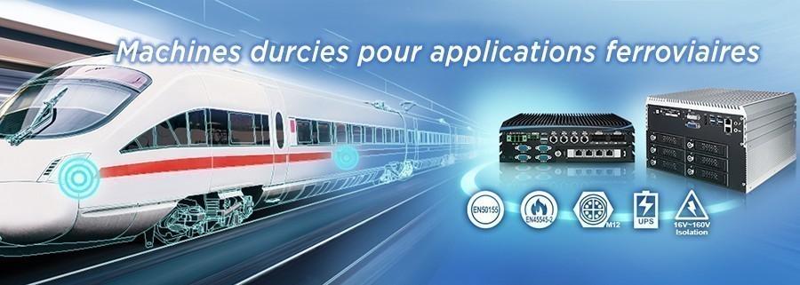 Nouveaux systèmes embarqués Vecow pour véhicules ferroviaires avec UPS en option