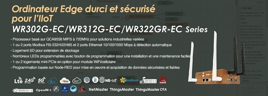 Nouvelles séries informatiques industrielles Edge pour l'IoT - WoMaster WR302G-EC / WR312G-EC / WR322GR-EC