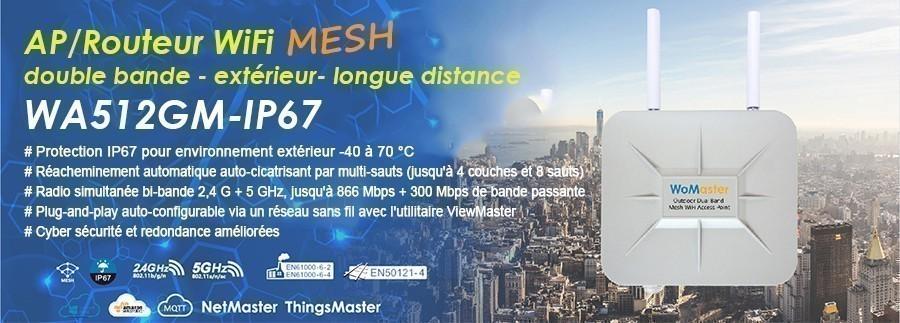 WoMaster présente le 1er point d'accès / routeur extérieur WiFi MESH double bande au monde