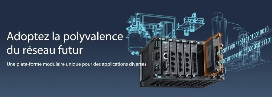 Créez des réseaux flexibles, évolutifs et fiables pour atteindre une véritable polyvalence avec les switchs modulaires manageables de la série MDS-G4000